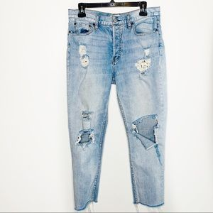 Free People Distressed Lacey Stilt Jeans Size 30